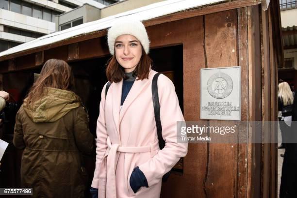 Model Marie Nasemann attends the Good bye Lenin Revival Premiere on May 1 2017 in Berlin Germany