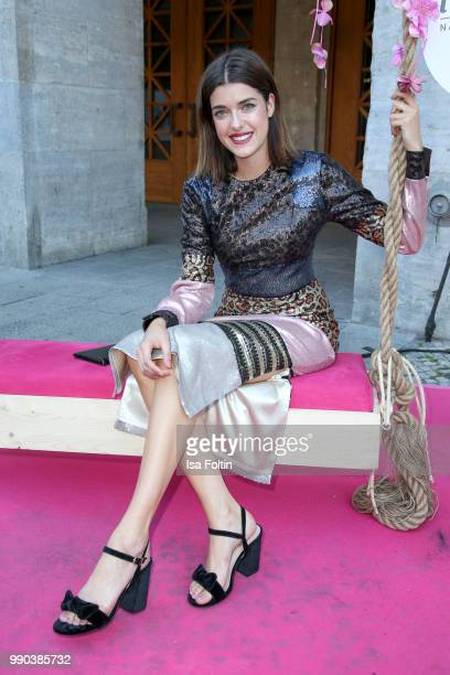 Model Marie Nasemann during the Bunte New Faces Night at Grace Hotel Zoo on July 2 2018 in Berlin Germany