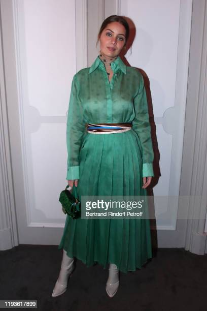 Model Marie-Ange Casta attends the Annual Charity Dinner hosted by the AEM Association Children of the World for Rwanda AIn on December 12, 2019 in...