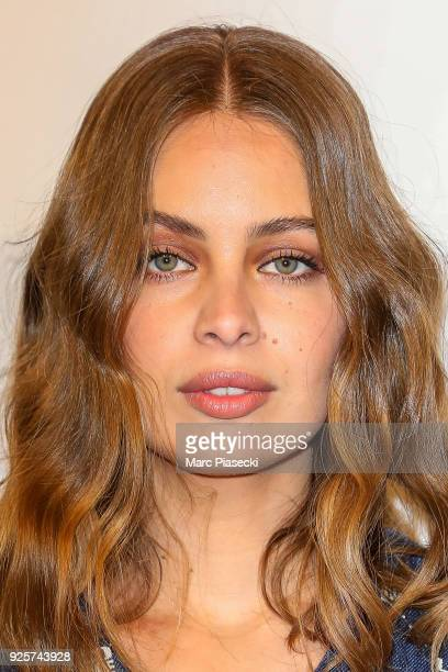 Model MarieAnge Casta attends the HM show as part of the Paris Fashion Week Womenswear Fall/Winter 2018/2019 on February 28 2018 in Paris France
