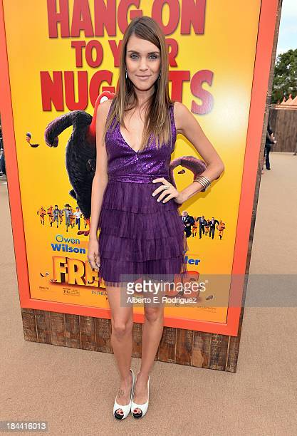 Model Marilia Moreno arrives at the premiere of Relativity Media's Free Birds at the Westwood Village Theatre on October 13 2013 in Hollywood...