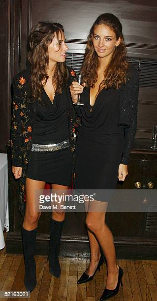 Model Marina Hanbury and sister Rose attend the book launch for historian Andrew Roberts new book Waterloo at the English Speaking union Club in...