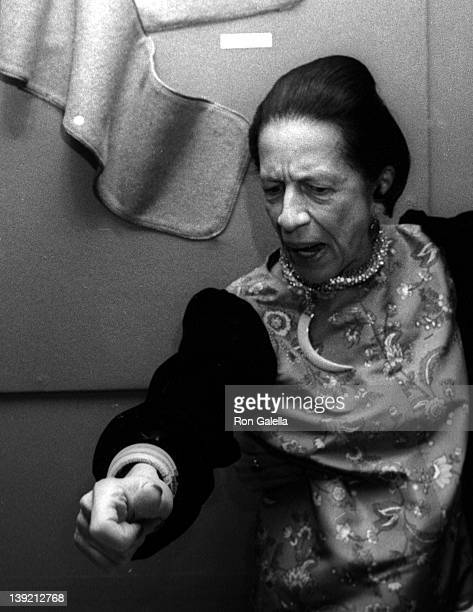 Model Marina Schiano attends Diana Vreeland Costume Exhitition 'The Glory of Russian Costume' on December 6 1976 at the Metropolitan Museum of Art in...