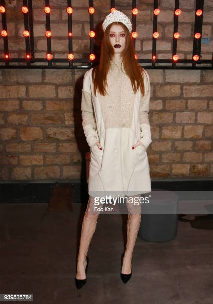 Model Marion from Metropolitan agency attends the Olga Boyarinova Couture Show At Euphoriom Club In Paris on March 28 2018 in Paris France