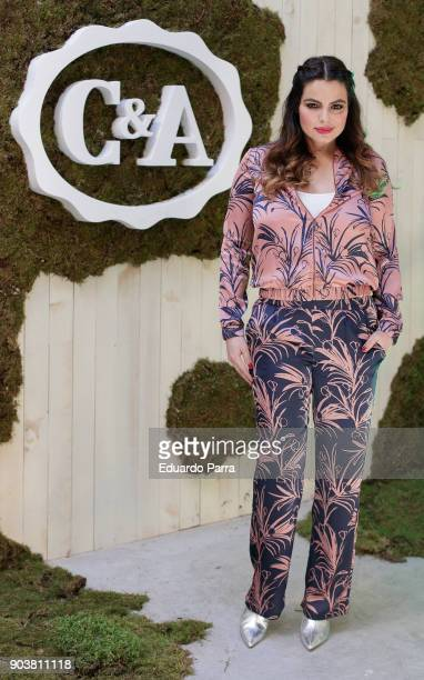 Model Marisa Jara attends the CA new collection event at Maria Luz y Sabor space on January 11 2018 in Madrid Spain