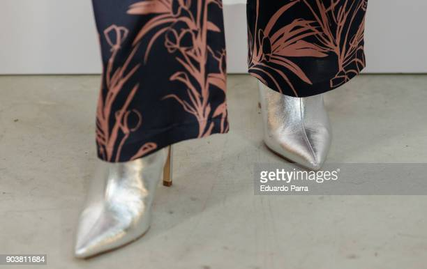 Model Marisa Jara shoes detail attends the CA new collection event at Maria Luz y Sabor space on January 11 2018 in Madrid Spain