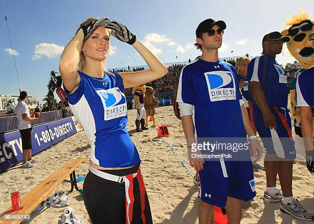 Model Marisa Miller and Actor Chace Crawford attend the Fourth Annual DIRECTV Celebrity Beach Bowl at DIRECTV Celebrity Beach Bowl Stadium South...