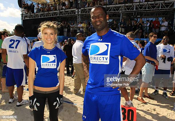 Model Marisa Miller and Brian McKnight attend the Fourth Annual DIRECTV Celebrity Beach Bowl at DIRECTV Celebrity Beach Bowl Stadium South Beach on...