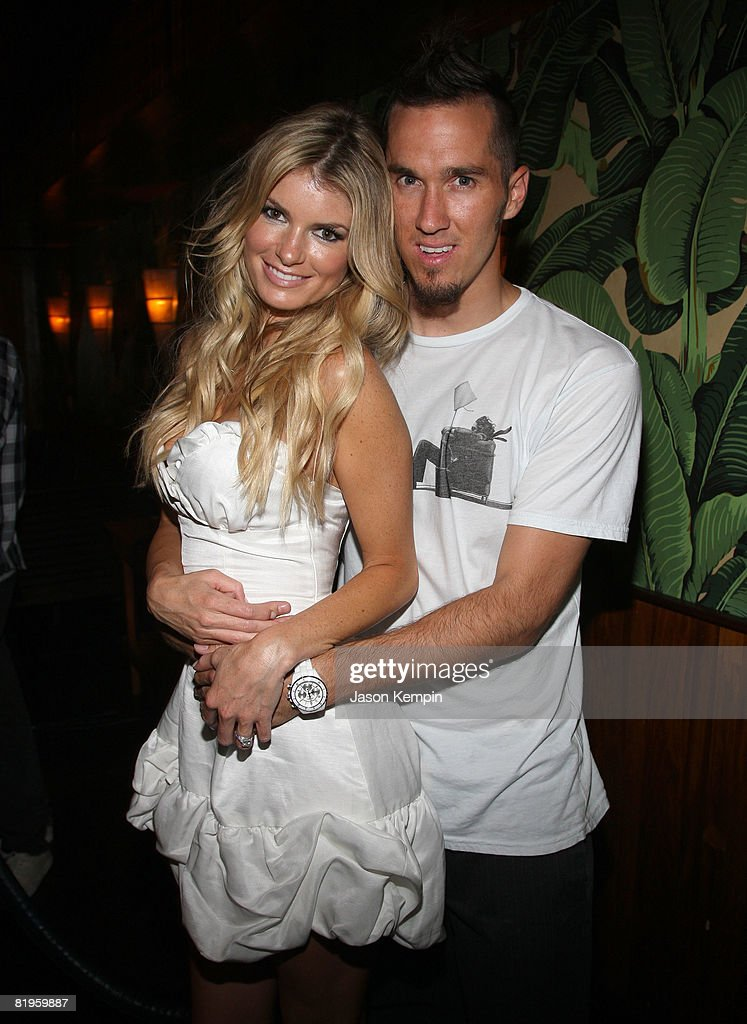 Model Marisa Miller and Griffin Guess attend an Evening Celebrating Vans by Marisa Miller at The Cabanas at the Maritime Hotel on July 16, 2008 in New York City.