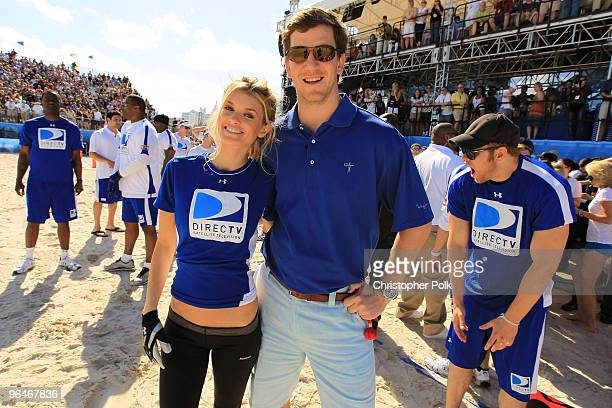 Model Marisa Miller and NY Giants Quarteback Eli Manning the Fourth Annual DIRECTV Celebrity Beach Bowl at DIRECTV Celebrity Beach Bowl Stadium South...