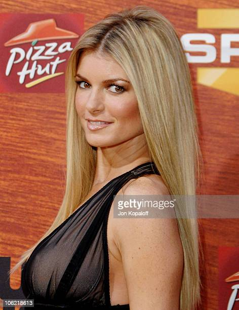 Model Marisa Miller arrives at Spike TV's 2nd Annual Guys Choice Awards at Sony Studios on May 30 2008 in Culver City California