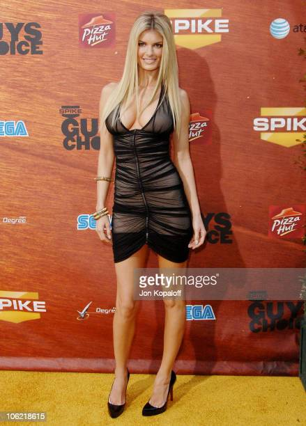 Model Marisa Miller arrives at Spike TV's 2nd Annual 'Guys Choice' Awards at Sony Studios on May 30 2008 in Culver City California