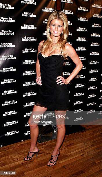 Model Marisa Miller arrives for launch of 2004 Sports Illustrated swimsuit magazine 40th anniversary issue which contains Sports Illustrated swimsuit...
