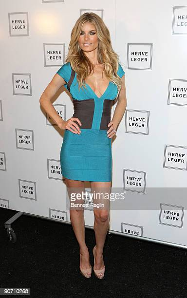 Model Marisa Miller attends Herve Leger By Max Azria Spring 2010 during MercedesBenz Fashion Week at Bryant Park on September 13 2009 in New York City