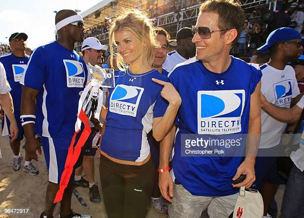Model Marisa Miller attends the Fourth Annual DIRECTV Celebrity Beach Bowl at DIRECTV Celebrity Beach Bowl Stadium South Beach on February 6 2010 in...