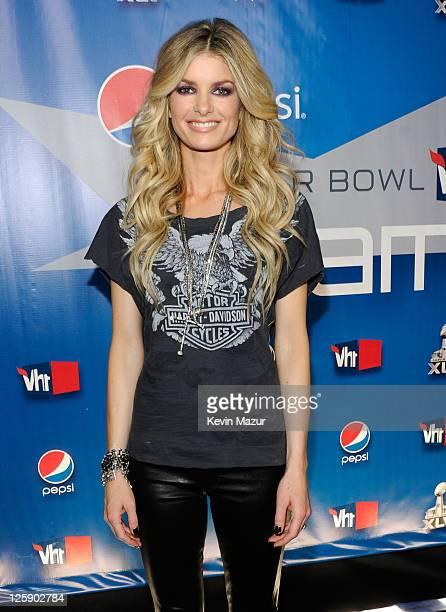 Model Marisa Miller backstage during VH1's Pepsi Super Bowl Fan Jam at Verizon Theater on February 3 2011 in Grand Prairie Texas