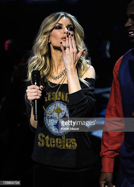 Model Marisa Miller onstage during VH1's Pepsi Super Bowl Fan Jam at Verizon Theater on February 3 2011 in Grand Prairie Texas
