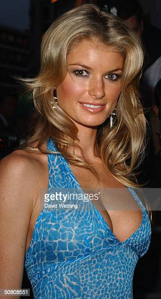 Model Marissa Miller attends the launch and 40th anniversary party for Sports Illustrated Swimsuit Issue 2004 at The Collection on May 6 2004 in...