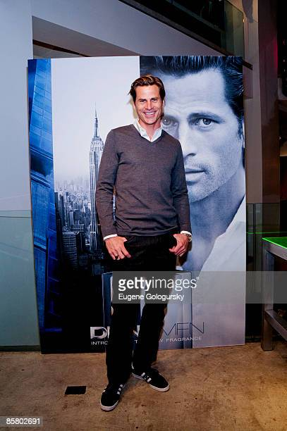 Model Mark Vanderloo launches the new DKNY Men fragrance at DKNY on April 4 2009 in New York City