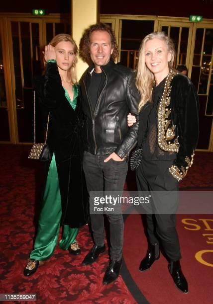 Model Marla Fabri Nicolas Mereau and model Annia attend Daniele Gilbert et Les Idoles de Midi Premiere Photocall at Casino de Paris on March 11 Paris...