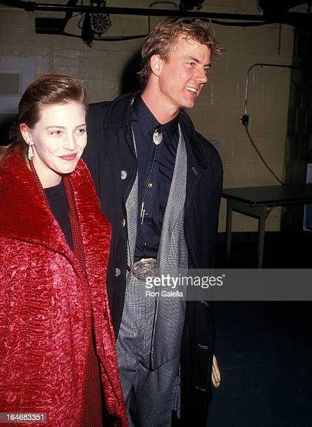 Model Marla Hanson and actor Barry Tubb attend the Sweet Sue Broadway Play Opening Night Party on January 8 1987 at the Tavern on the Green in New...