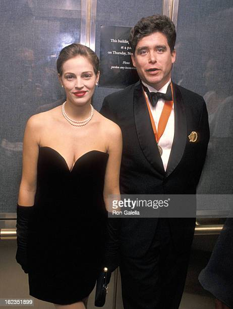 Model Marla Hanson and writer Jay McInerney attend 'A Decade of Literary Lions The Pride of The New York Public Library' Gala to Benefit the...