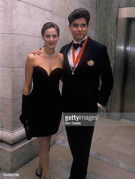 Model Marla Hanson and writer Jay McInerney attend 'A Decade of Literary Lions The Pride of the New York Public Library' Gala to Benefit the New York...