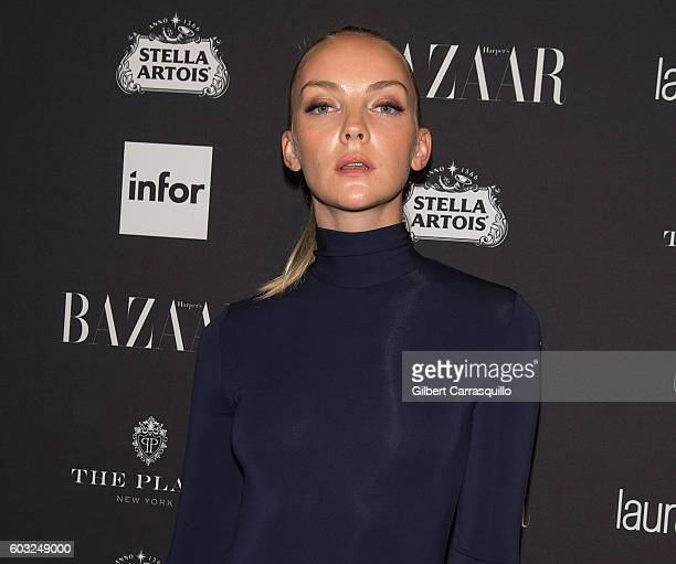 Model Marloes Heather Marks attends Harper's BAZAAR Celebrates 'ICONS By Carine Roitfeld' at The Plaza Hotel on September 9 2016 in New York City