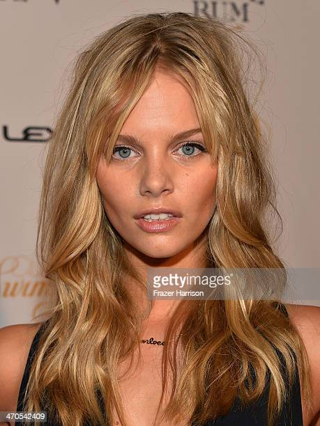 Model Marloes Horst attends Club SI Swimsuit at LIV Nightclub hosted by Sports Illustrated at Fontainebleau Miami on February 19 2014 in Miami Beach...