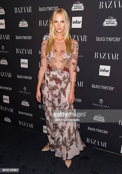 Model Marloes Horst attends Harper's BAZAAR Celebrates 'ICONS By Carine Roitfeld' at The Plaza Hotel on September 9 2016 in New York City