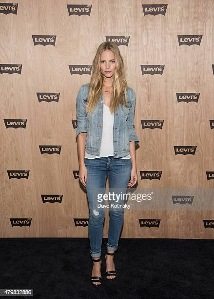 Model Marloes Horst attends the Levi's Women's Collection Exhibition Launch at The Levi's Store Times Square on July 7 2015 in New York City