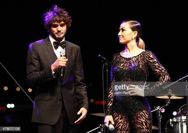 Model Marlon Teixeira and TV Personality Sabrina Sato attend the third annual BrazilFoundation Gala Miami at Perez Art Museum Miami on March 15 2014...