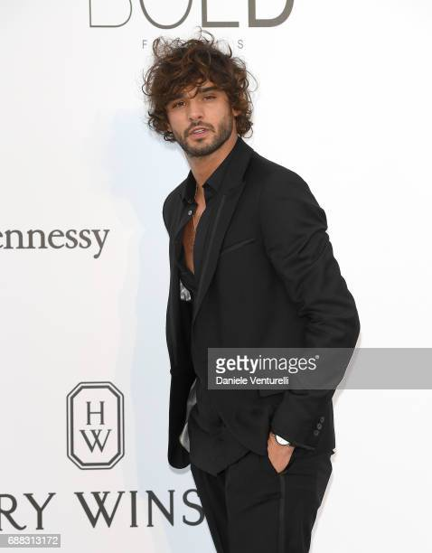 Model Marlon Teixeira arrives at the amfAR Gala Cannes 2017 at Hotel du CapEdenRoc on May 25 2017 in Cap d'Antibes France