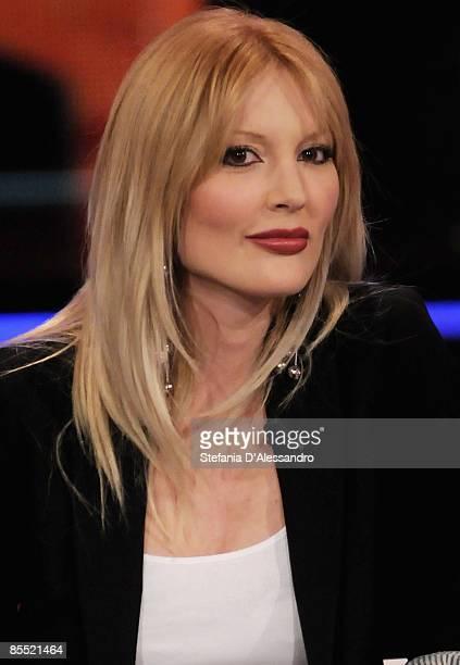 Model Marta Cecchetto attends the Italian TV show 'Chiambretti Night' held at Italia1 Studios on March 19 2009 in Milan Italy