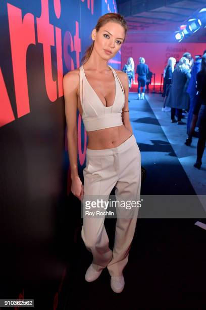 Model Martha Hunt attends 'Spotify's Best New Artist Party' at Skylight Clarkson on January 25 2018 in New York City