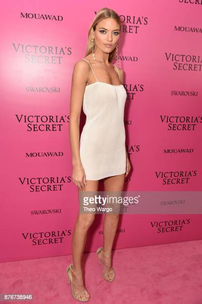 Model Martha Hunt attends the 2017 Victoria's Secret Fashion Show In Shanghai After Party at MercedesBenz Arena on November 20 2017 in Shanghai China