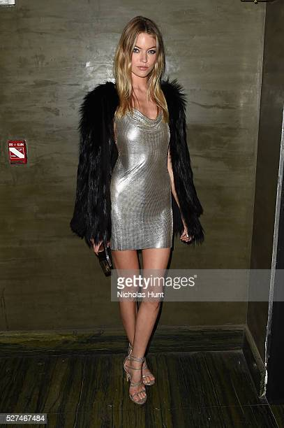 Model Martha Hunt attends the Balmain and Olivier Rousteing after the Met Gala Celebration on May 02 2016 in New York New York