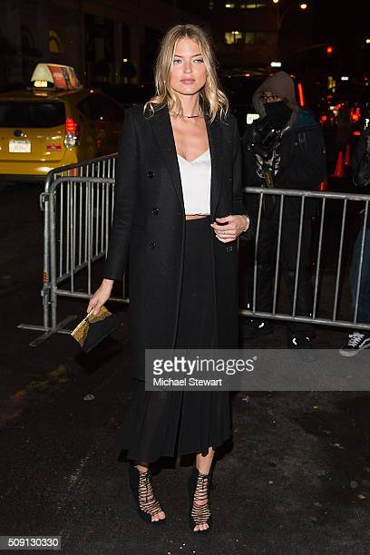 Model Martha Hunt attends the Kendall Kylie launch event on February 8 2016 in New York City