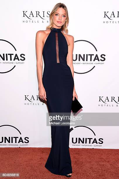Model Martha Hunt attends the UNITAS 2nd annual gala against human trafficking at Capitale on September 13 2016 in New York City