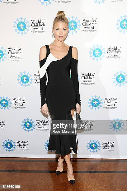 Model Martha Hunt attends the World of Children Awards Ceremony on October 27 2016 in New York City
