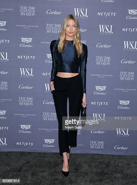 Model Martha Hunt attends the WSJ Magazine Innovator Awards at Museum of Modern Art on November 2 2016 in New York City