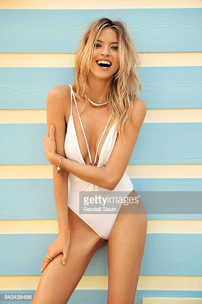 Model Martha Hunt is photographed for Ocean Drive Magazine on April 6 2015 in Nassau Bahamas