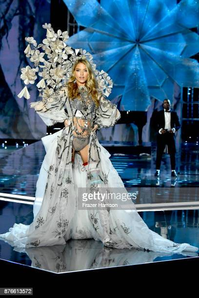 Model Martha Hunt walks the runway during the 2017 Victoria's Secret Fashion Show In Shanghai at MercedesBenz Arena on November 20 2017 in Shanghai...