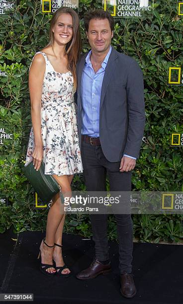 Model Martha Lamamie and actor Fernando Andina attend the National Geographic Channel 15th Anniversary photocall at the EEUU embassy on July 14 2016...