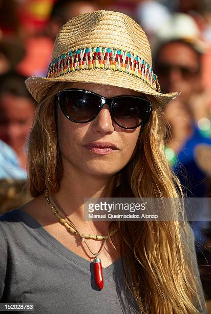 Model Martina Klein attends day two of the semi final Davis Cup between Spain and the United States at the Parque Hermanos Castro on September 15...