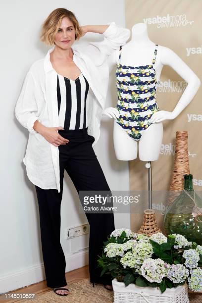 Model Martina Klein presents Ysabel Mora Swimwear Collection on April 25 2019 in Madrid Spain