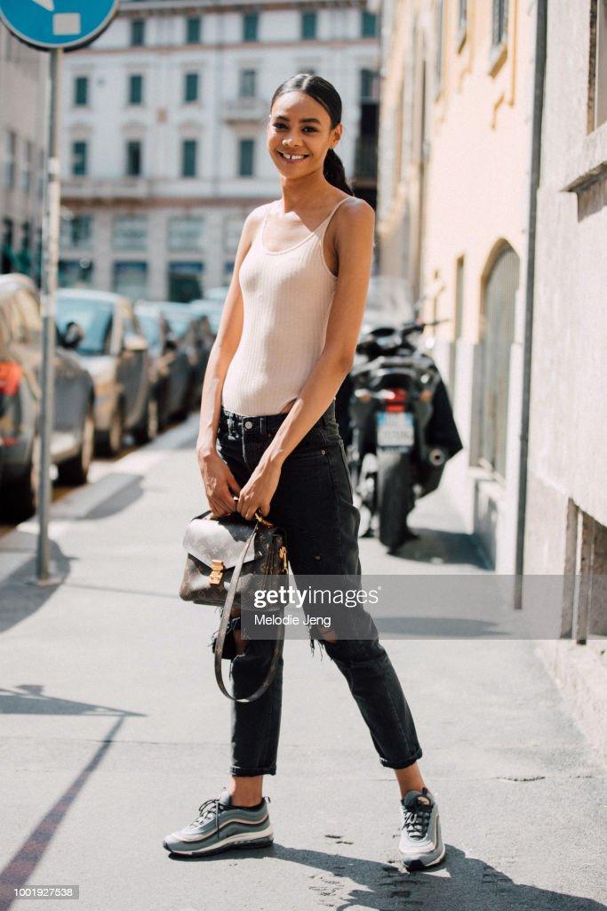 Street Style: June 17 - Milan Men's Fashion Week Spring/Summer 2019 : News Photo