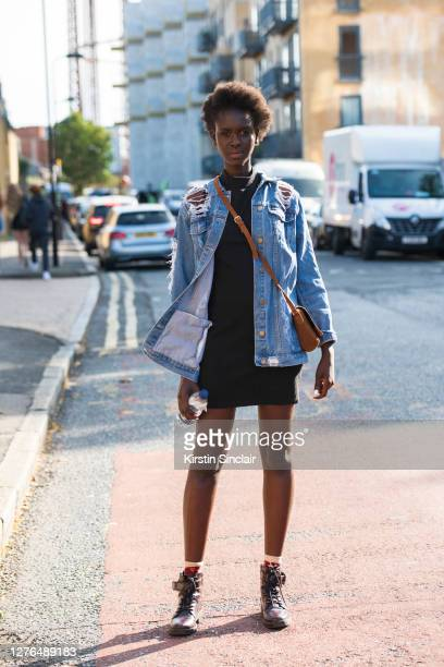 Model Mary Maguet during LFW September 2020 at on September 18, 2020 in London, England.
