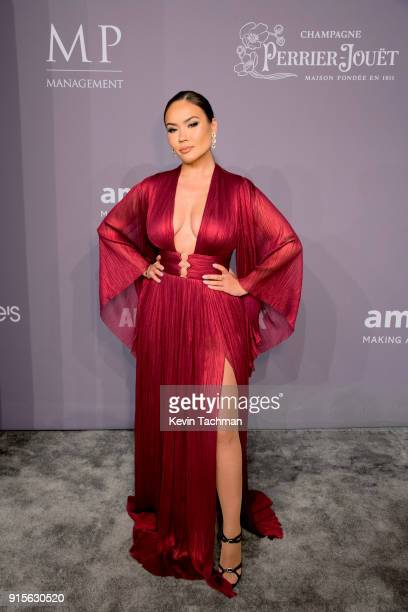 Model Maryam Maquillage attends the 2018 amfAR Gala New York at Cipriani Wall Street on February 7 2018 in New York City