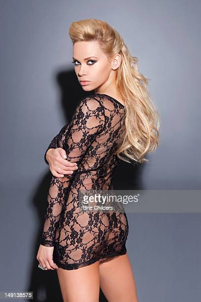 Model Masha Lund is photographed for Self Assignment on January 17 2011 in Los Angeles California